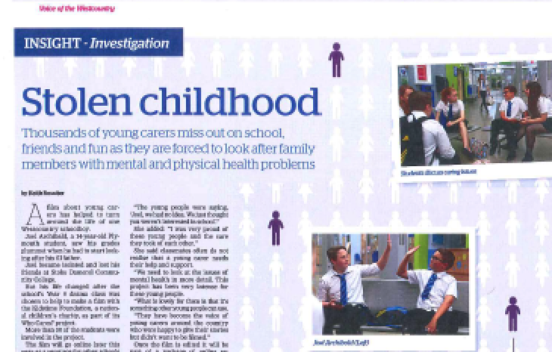 Image of article on 'Who Cares?' programme
