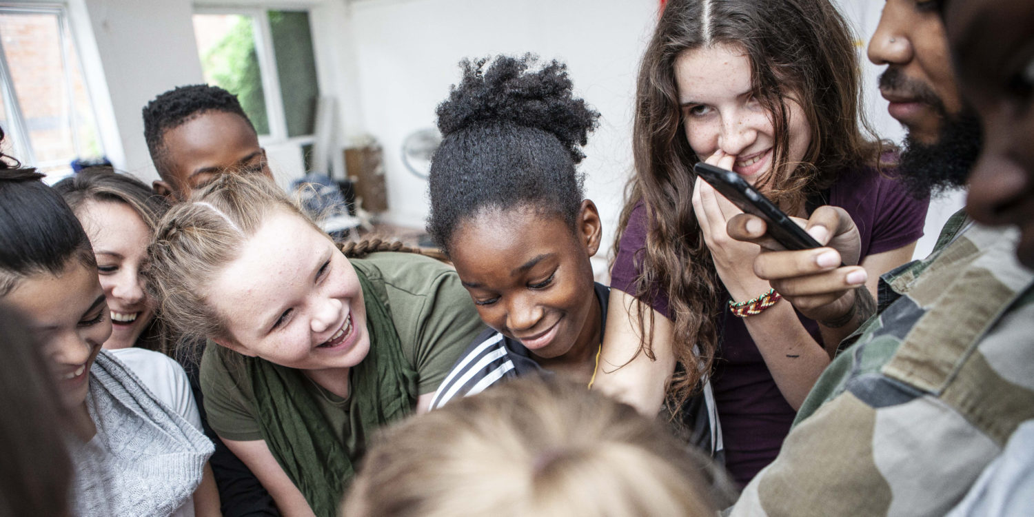 Young people at Bubble Theatre