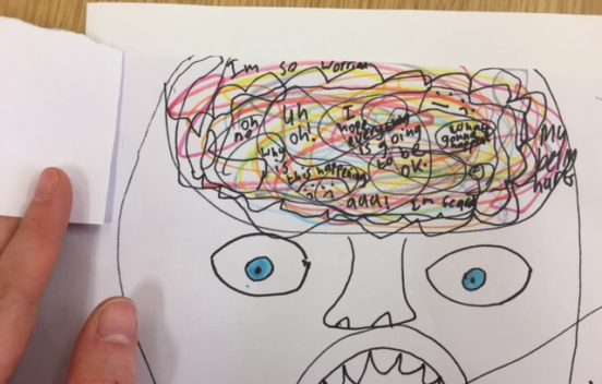 Child's drawing of a brain