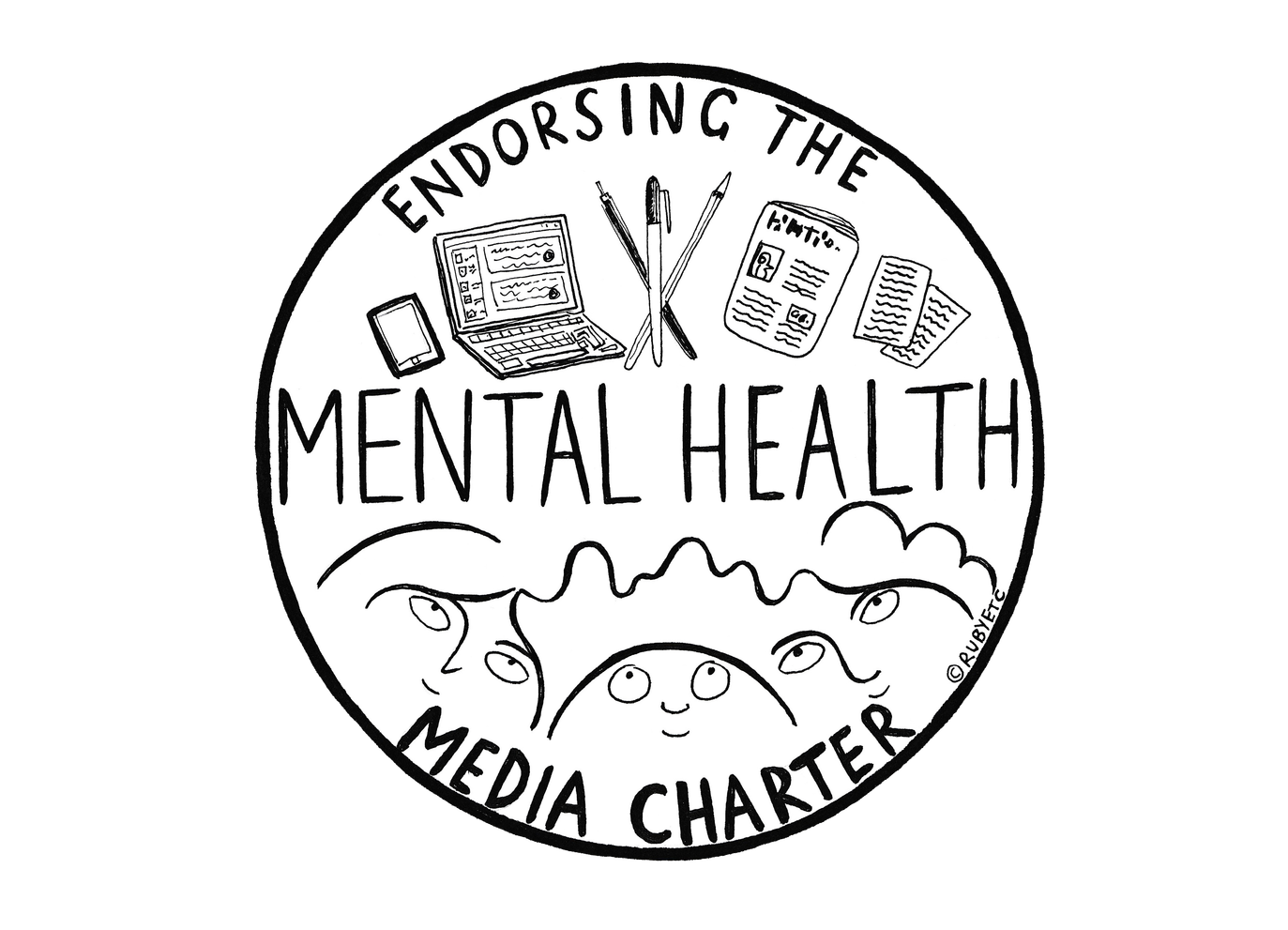 Mental Health Media Charter logo