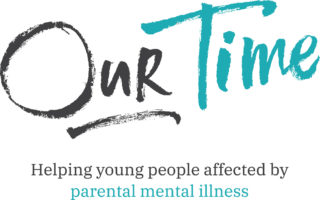 Our Time logo with tagline