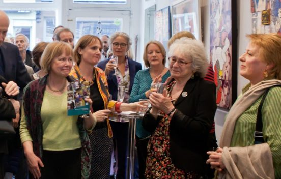 Photo showing a crowd of people at Our Time's auction, including Our Time CEO Dympna Cunnane