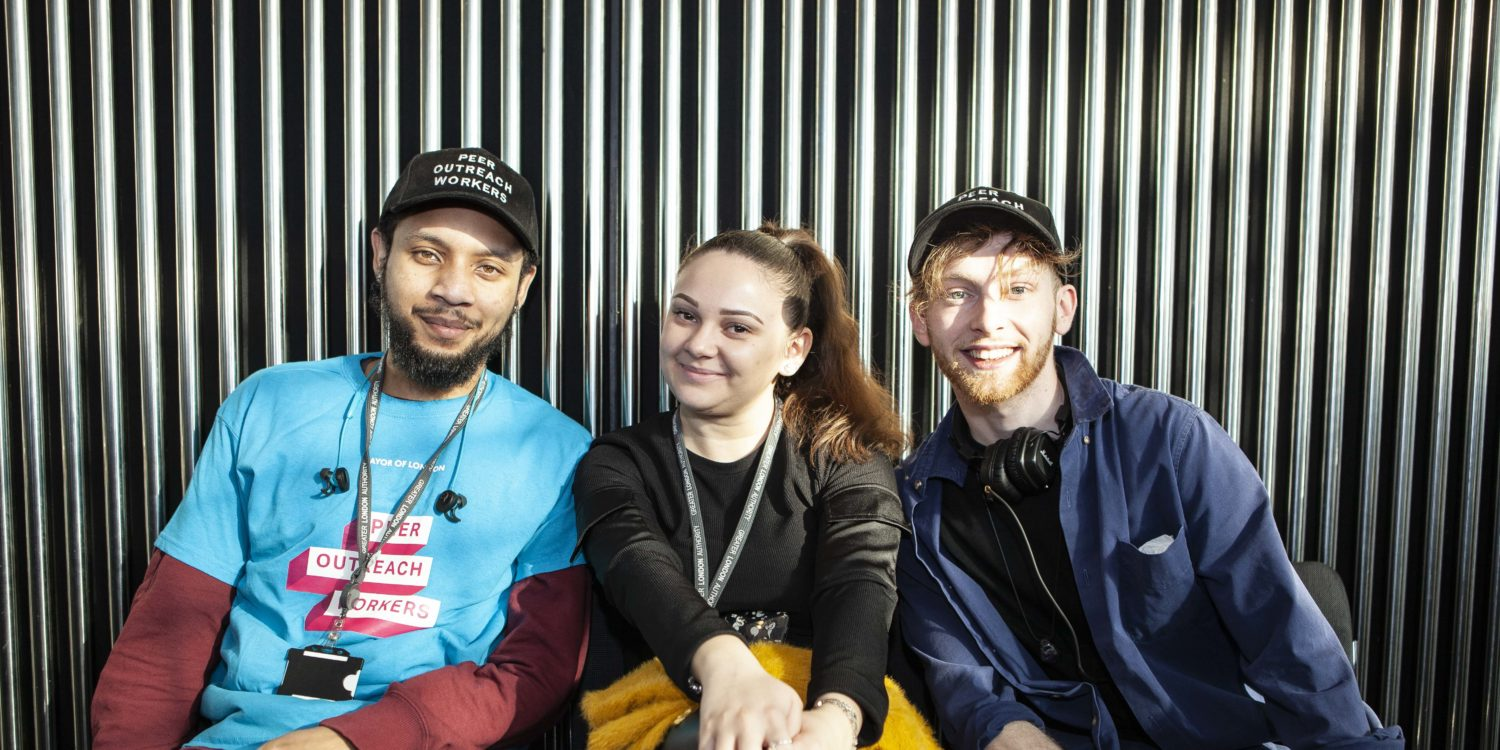 Three young people from the Mayor of London's Peer Outreach team