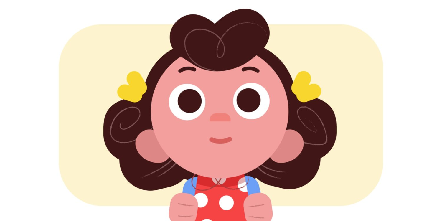 Animation still which is a close up of a girl's face