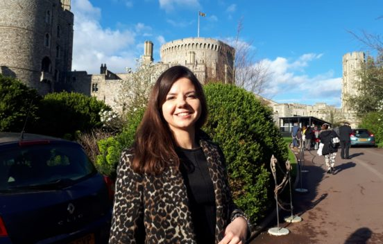 Helena Kulikowska outside Windsor Castle for Our Time