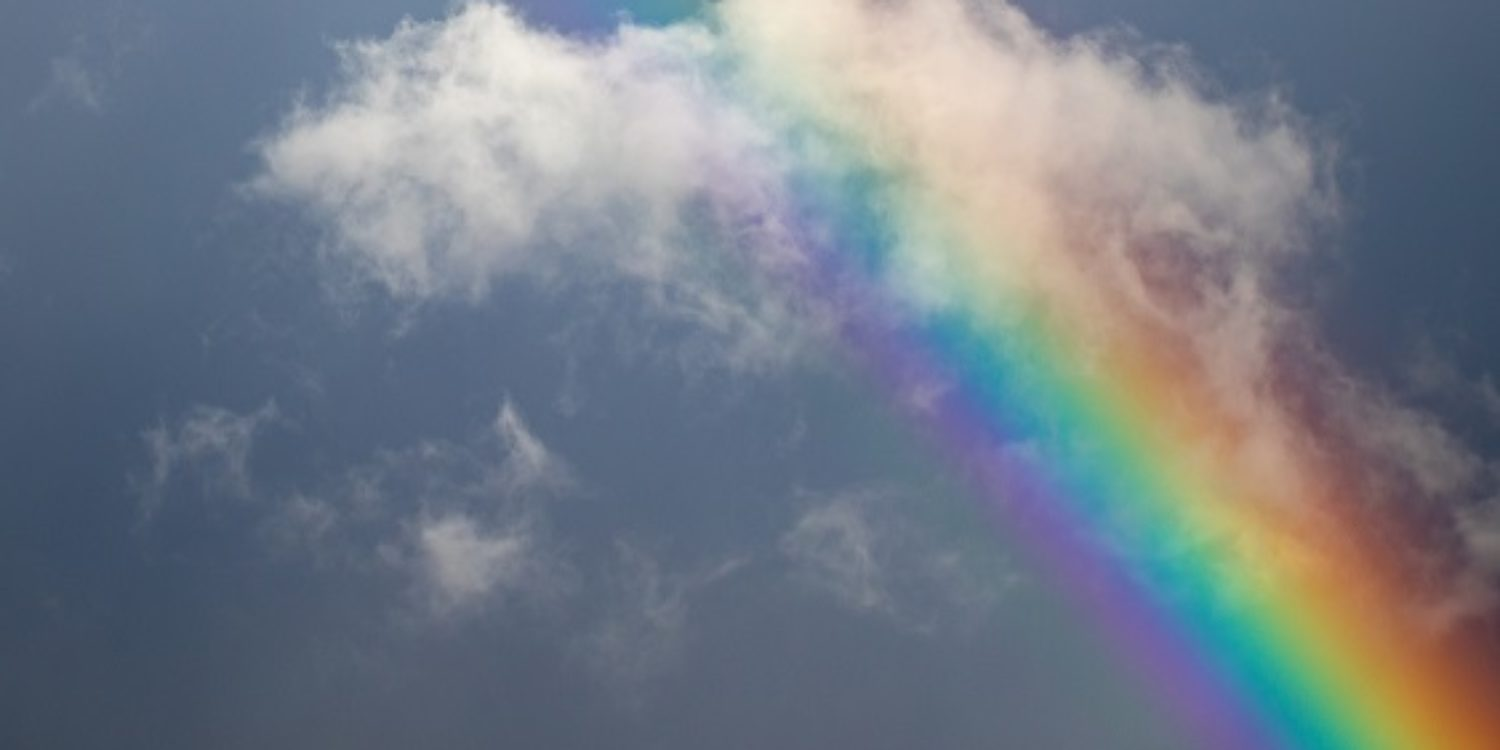 Image of rainbow in the sky