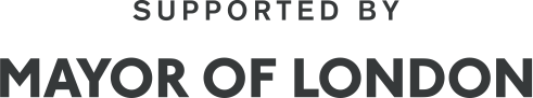 Logo for the Young Londoners Fund that reads 'Supported by the Mayor of London' in capital letters.