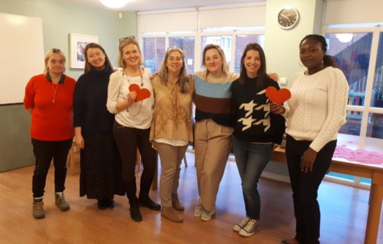 A group photo of the KidsTime Wandsworth team