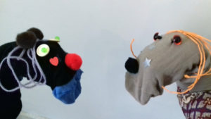 A pair of sock puppets