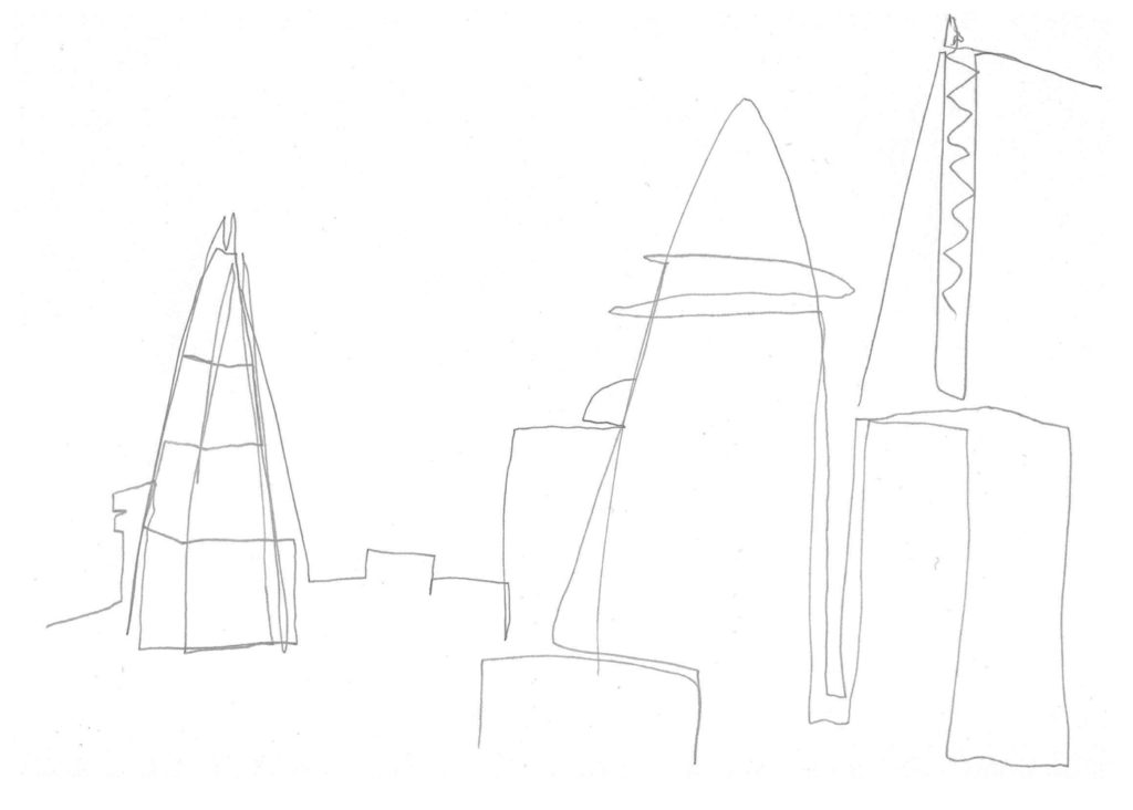 3 lines sketch