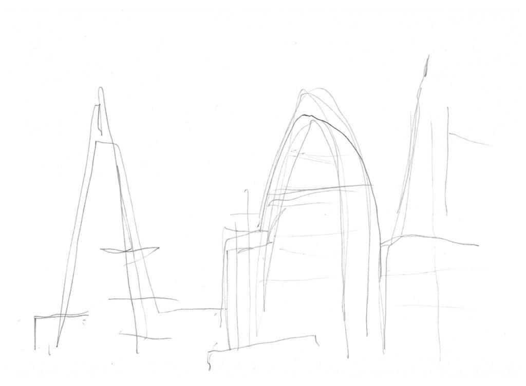 Not looking sketch