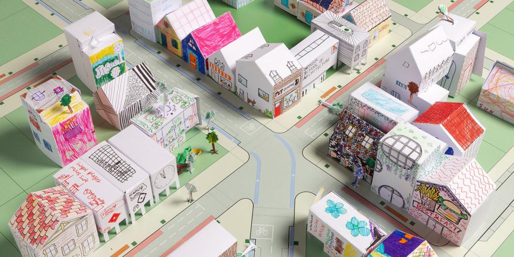 Paper craft city