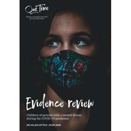 cover of evidence review with image of girl in mask