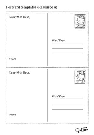Postcard template design