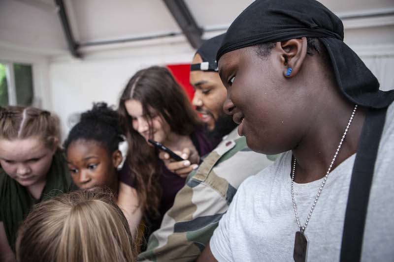 Young people at workshop