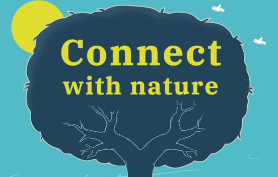 Connect with nature tree illustration