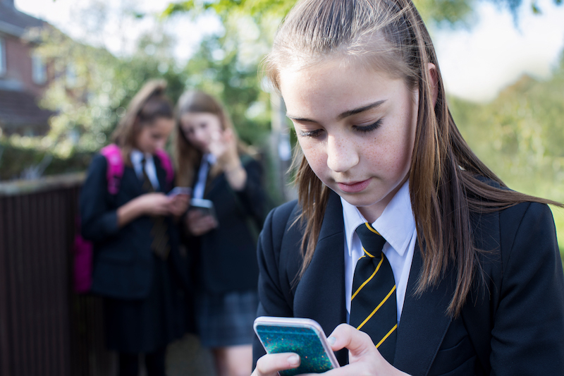 Young person on their phone